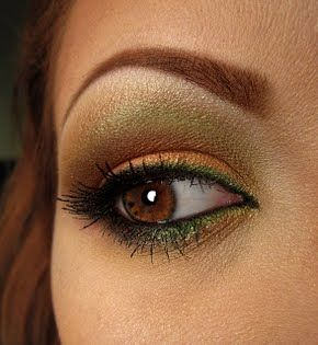 Autumn eyes, fall makeup colors, fall makeup idea I do this one and it's pretty with blue eyes as well