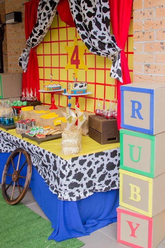49516a098f417 Toy Story   Cowboy   Cowgirl Birthday Party Ideas in 2019