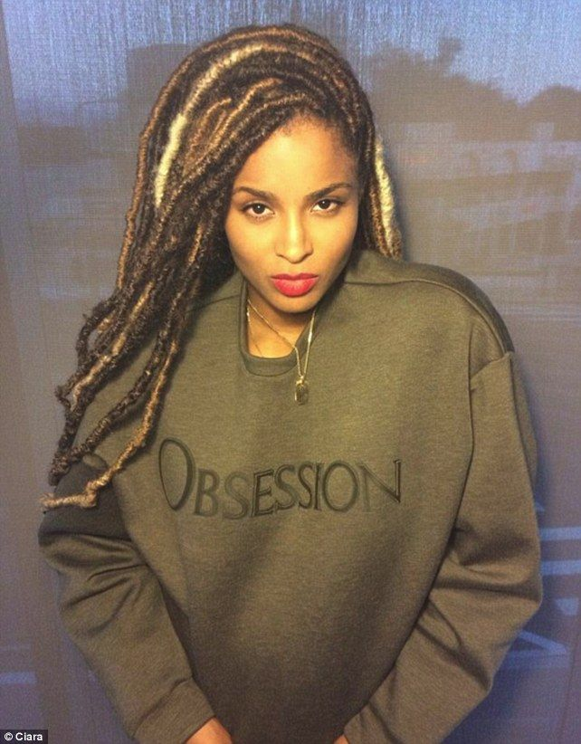 Adventurous: Ciara debuted some amazing dreadlocks in a variety of ...