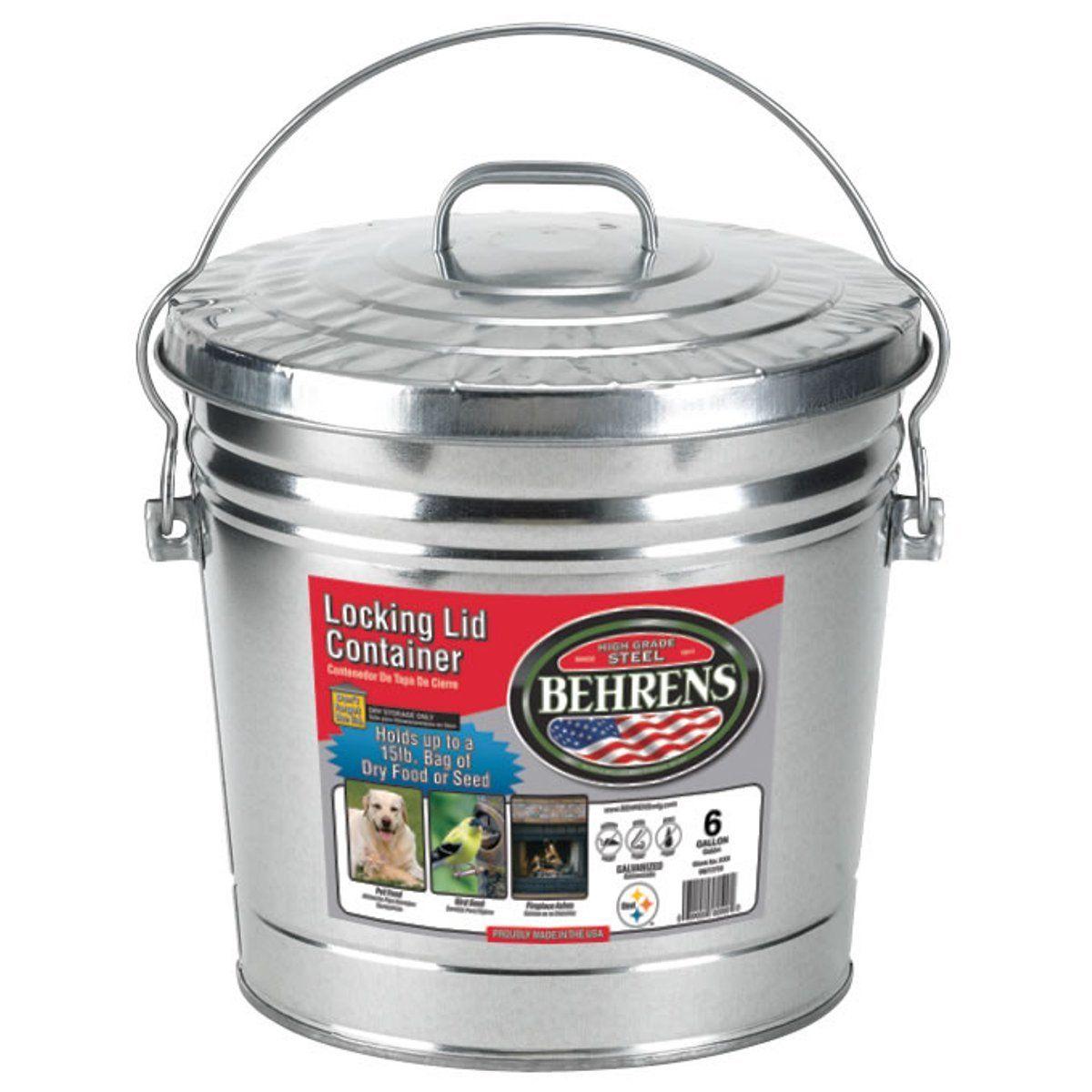 15 behrens 6106 6gallon locking lid can kitchen trash