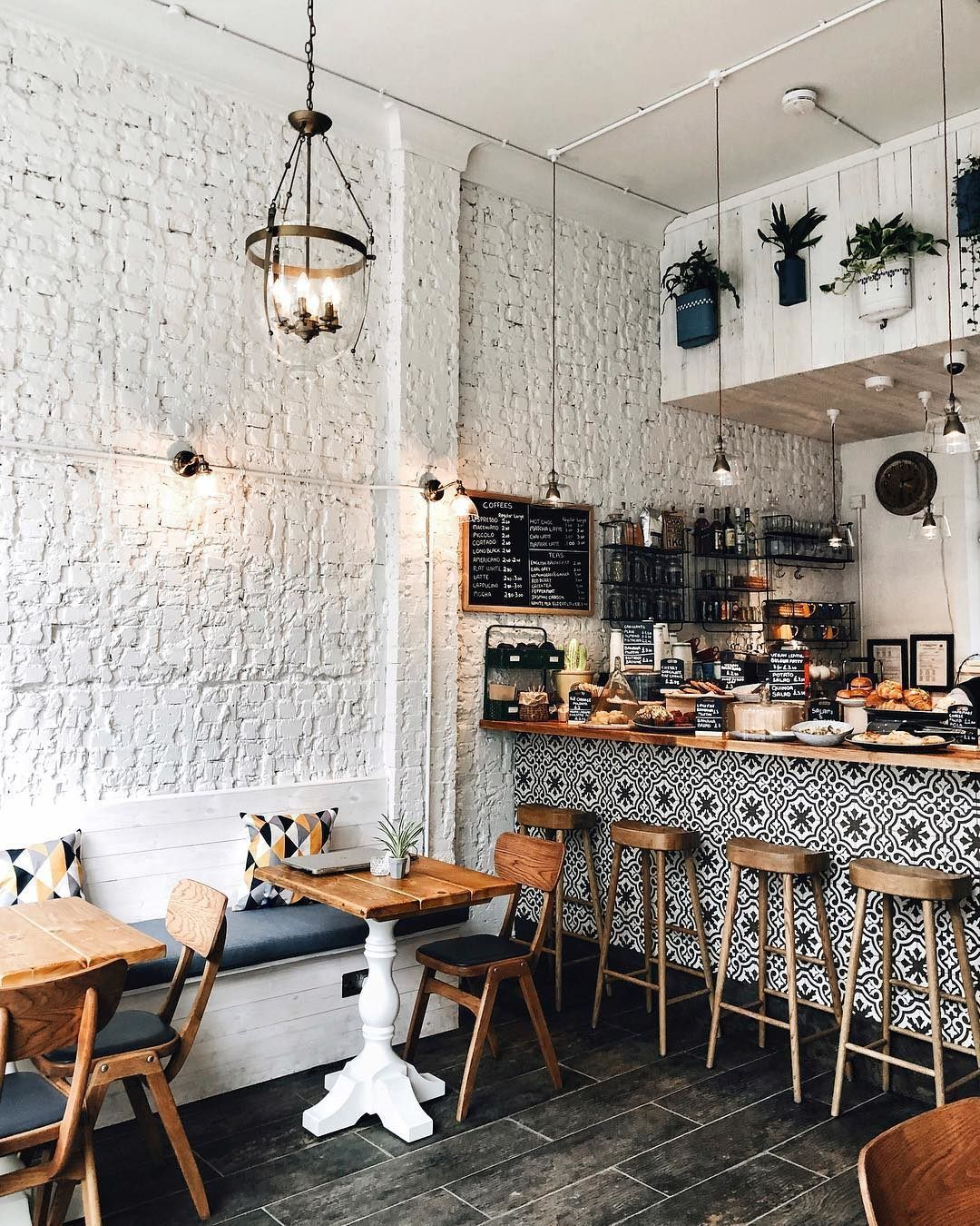 Secret London On Instagram This Cute New Cafe In Kensington Is An Instagrammer S Dream Pop In For Co Cafe Interior Design Cozy Coffee Shop Coffee Shop Decor