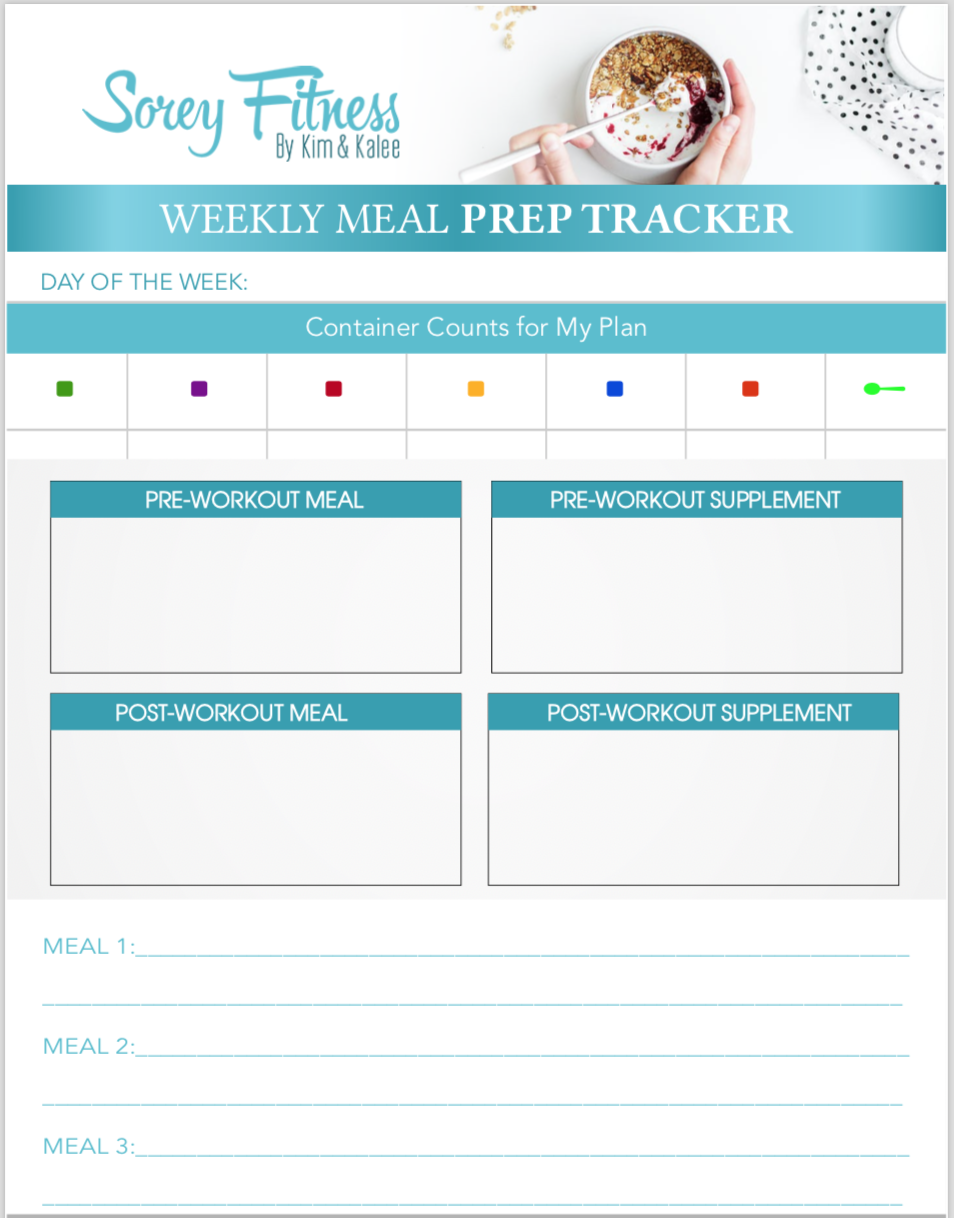 80 day obsession meal plan tracker