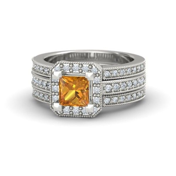 Va Voom Ring ($2,470) ❤ liked on Polyvore featuring jewelry, rings, pave setting ring, princess cut jewelry, princess cut ring and voom