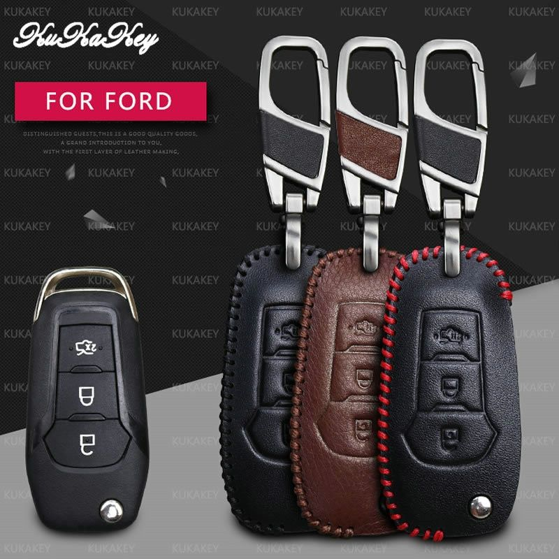 Kukakey Flip Folding Car Key Case For Ford Fusion Mondeo Everest Ecosport Ranger Escape Leather Keychain Key Holder Cover Bag Review Ford Fusion Ford Fusion Accessories Leather Key