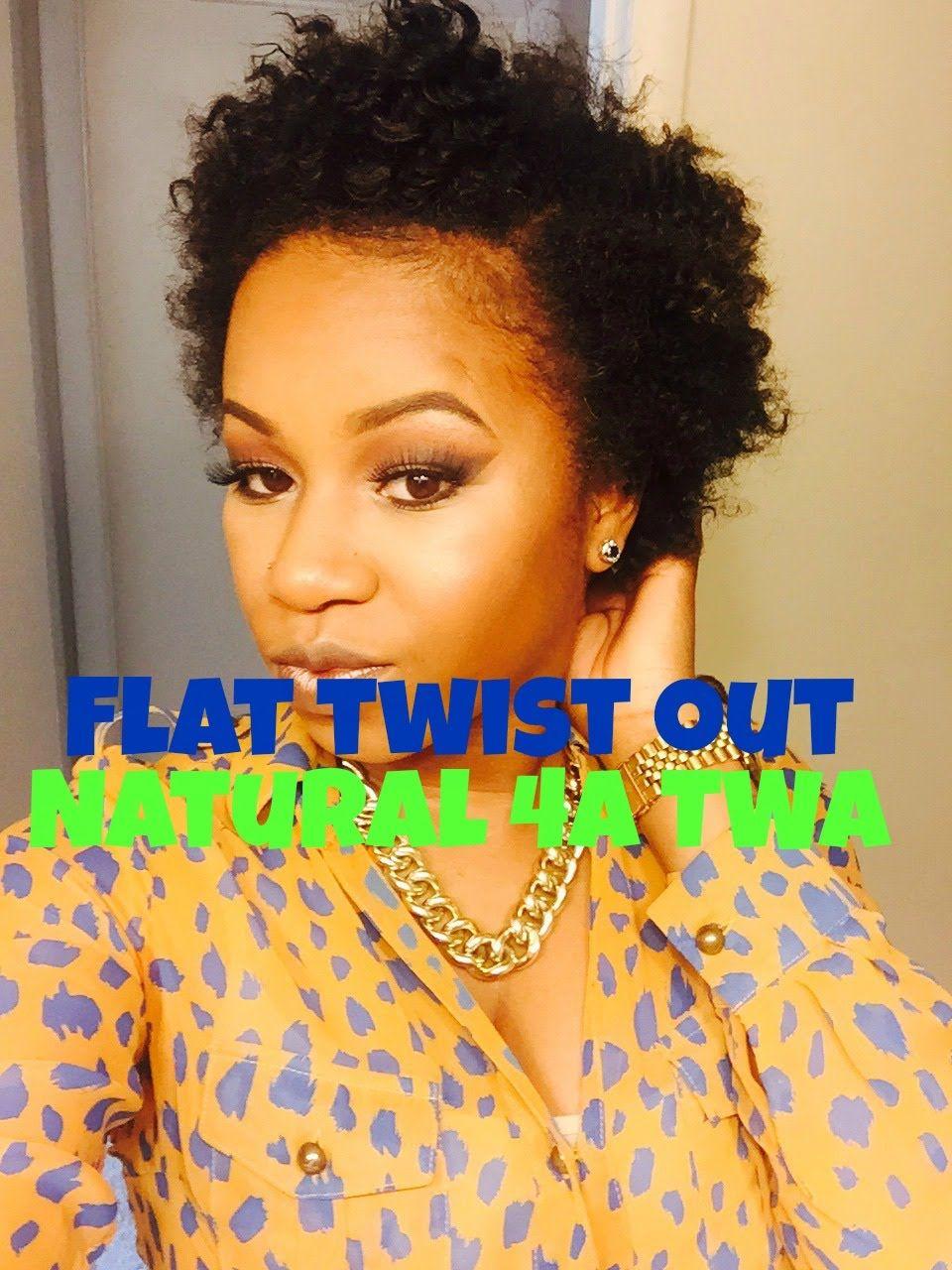 Flat Twist Out On Short 4a Natural Hair Tella Glam Natural Hair Styles Twist Outs Short Hair Styles