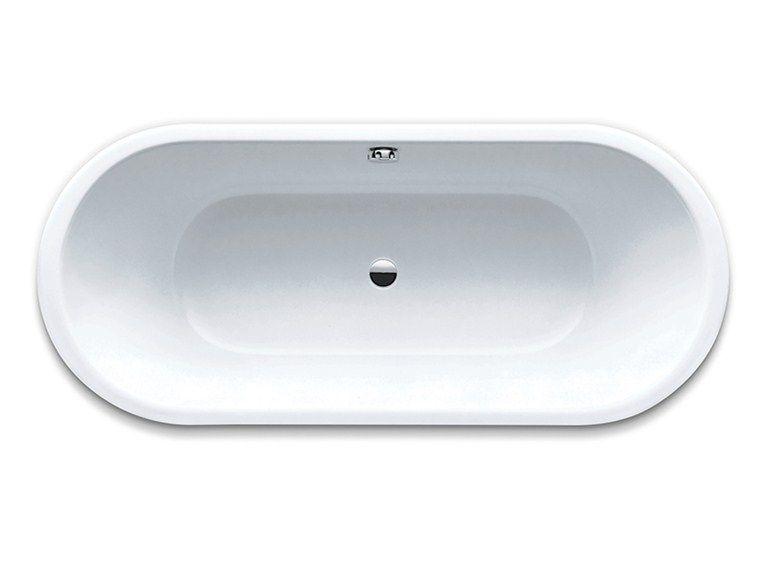 Vasca da bagno ovale in acciaio da incasso CLASSIC DUO OVALE ...