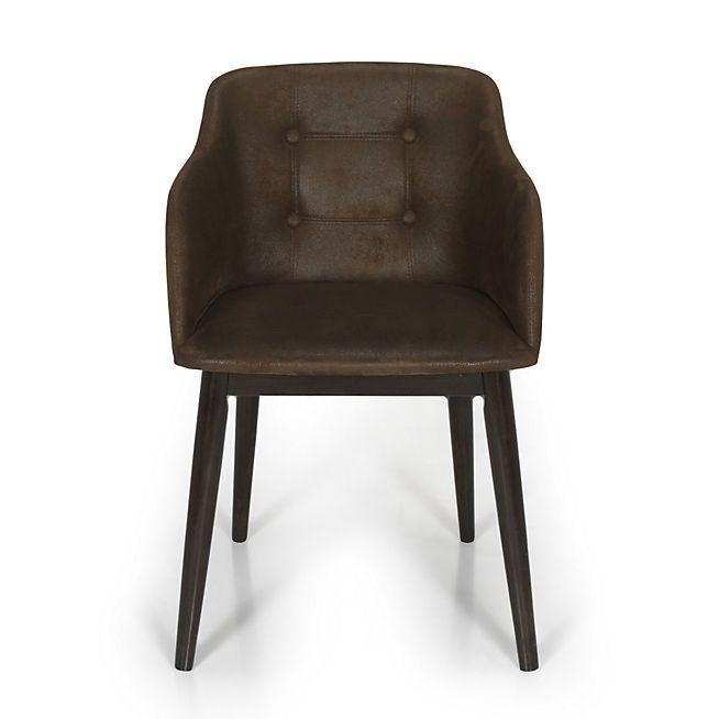 Cork Chaise De Sejour Capitonnee Marron Vieilli Chaise De Sejour Mobilier De Salon Fauteuil Design