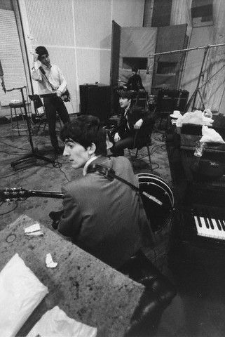 The Beatles at EMI Studios, 12 September 1963  Photo by Norman