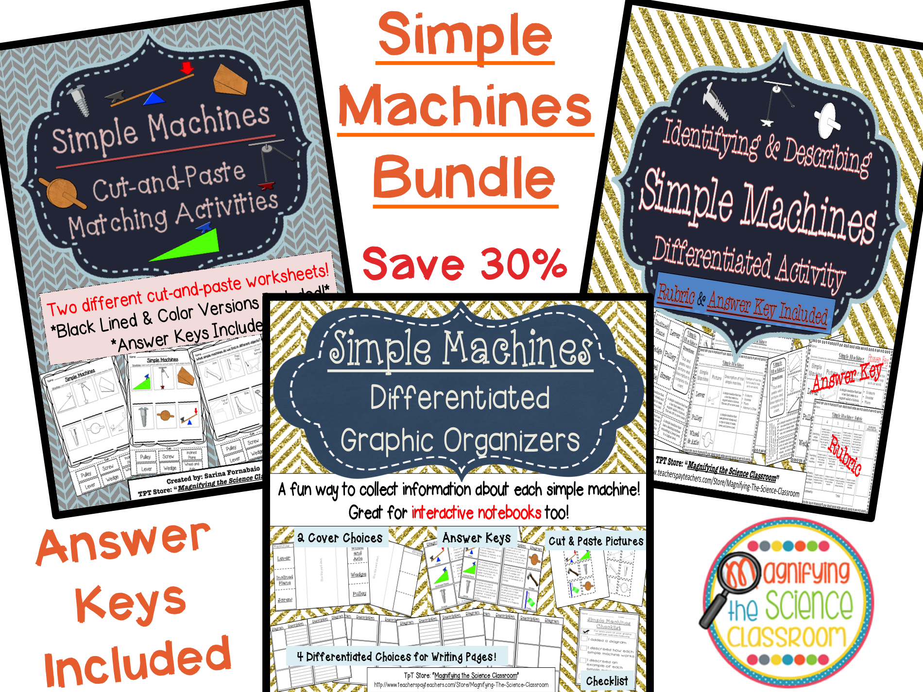 Simple Machines Activity Bundle