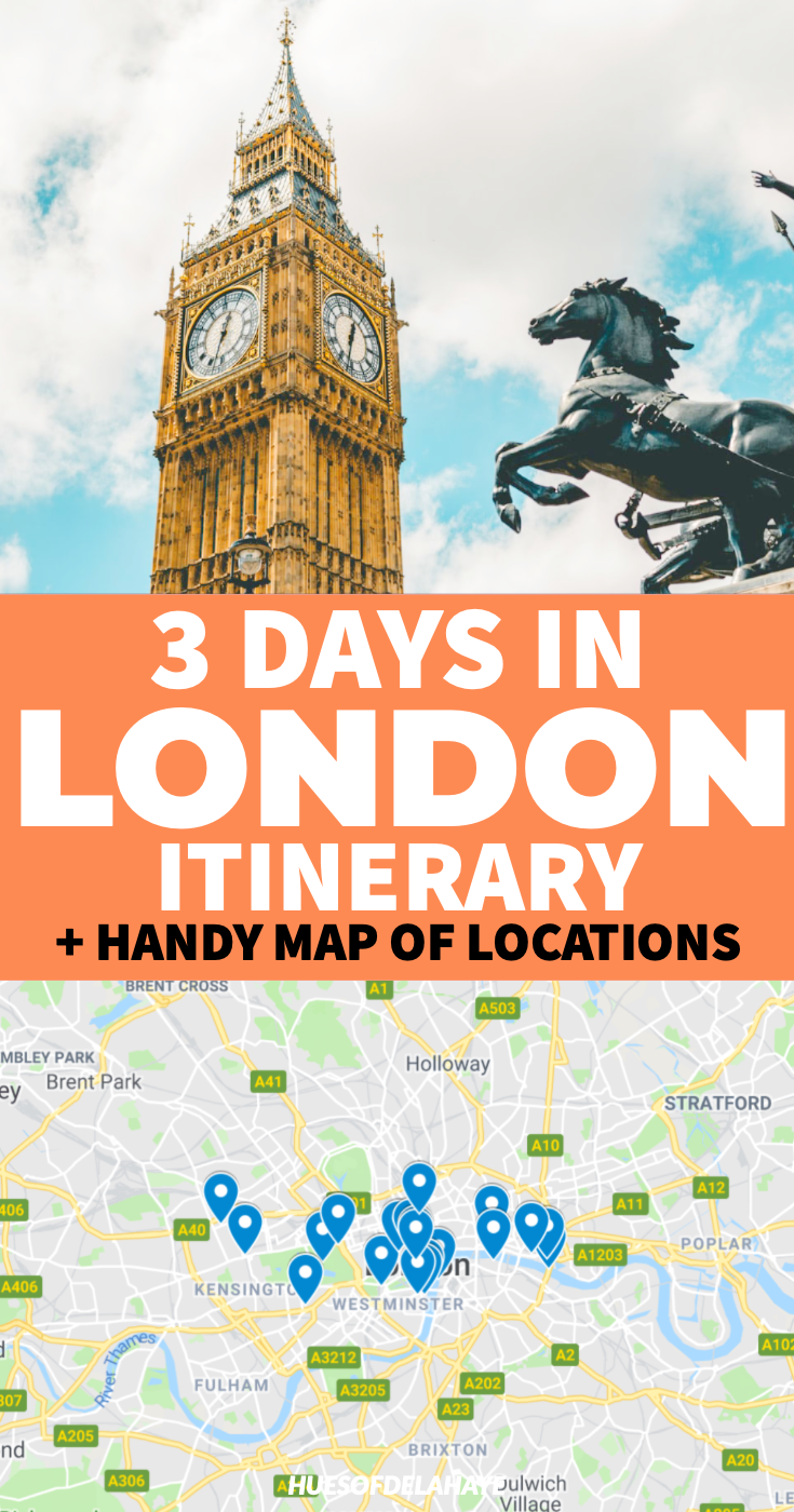This 3 days in London itinerary is filled the best things to do in London like seeing Big Ben, London Bridge, London towers, beautiful places to visit and even more bucket lists activities in the United Kingdom. This is the only London in 3 days travel guide you'll need for you trip to London England. This 72 hours in London travel guide is ideal for first time visitors and filled with London travel tips.