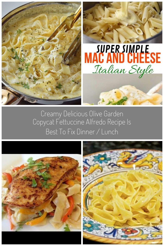 Creamy delicious Olive Garden Copycat Fettuccine Alfredo