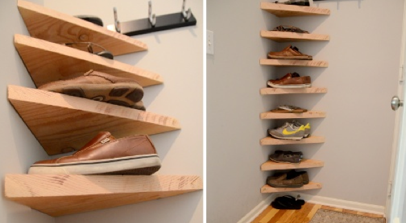 hidden shoe storage ideas for small