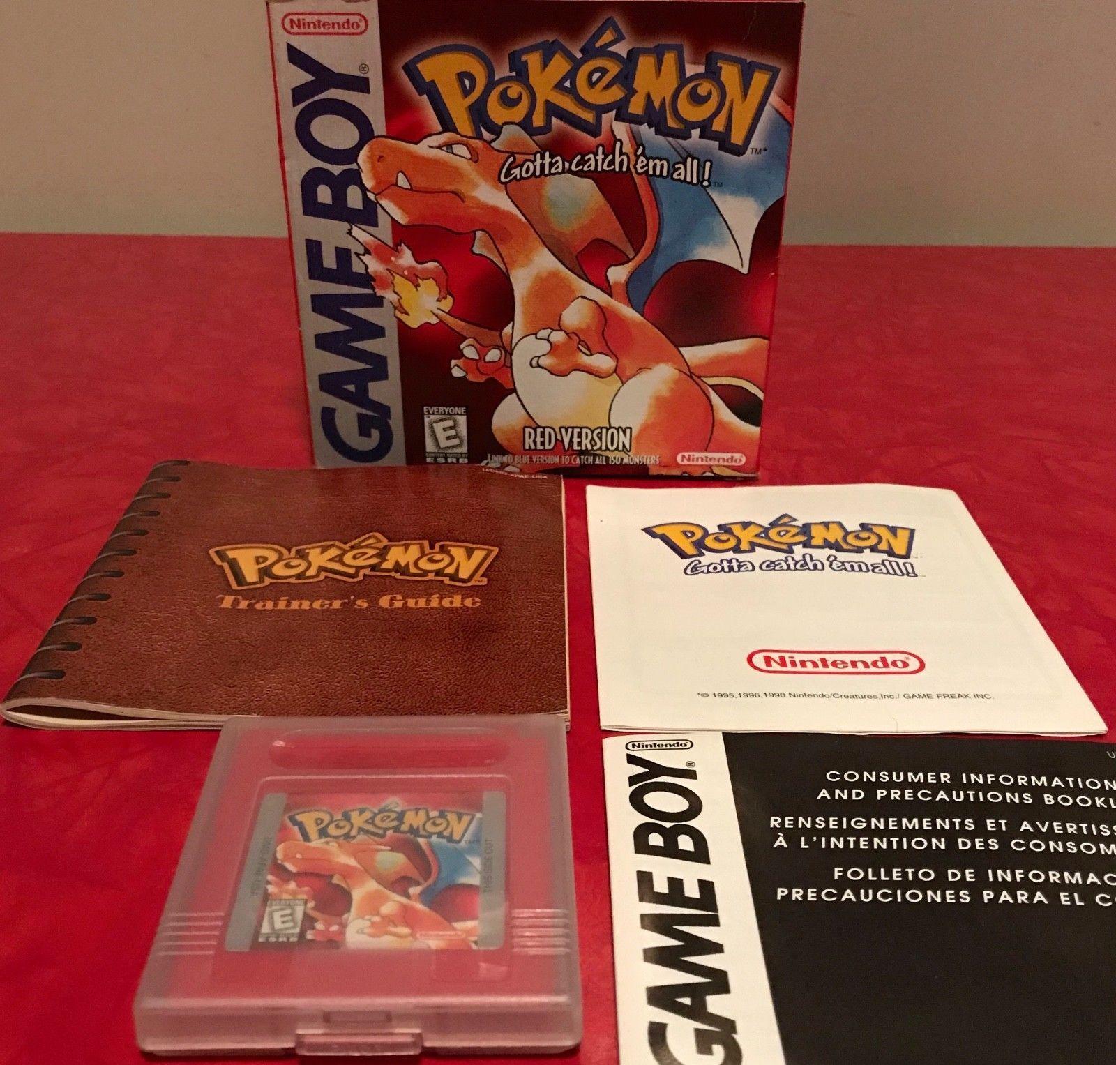 Pokemon gameboy red version nintendo gameboy complete w box