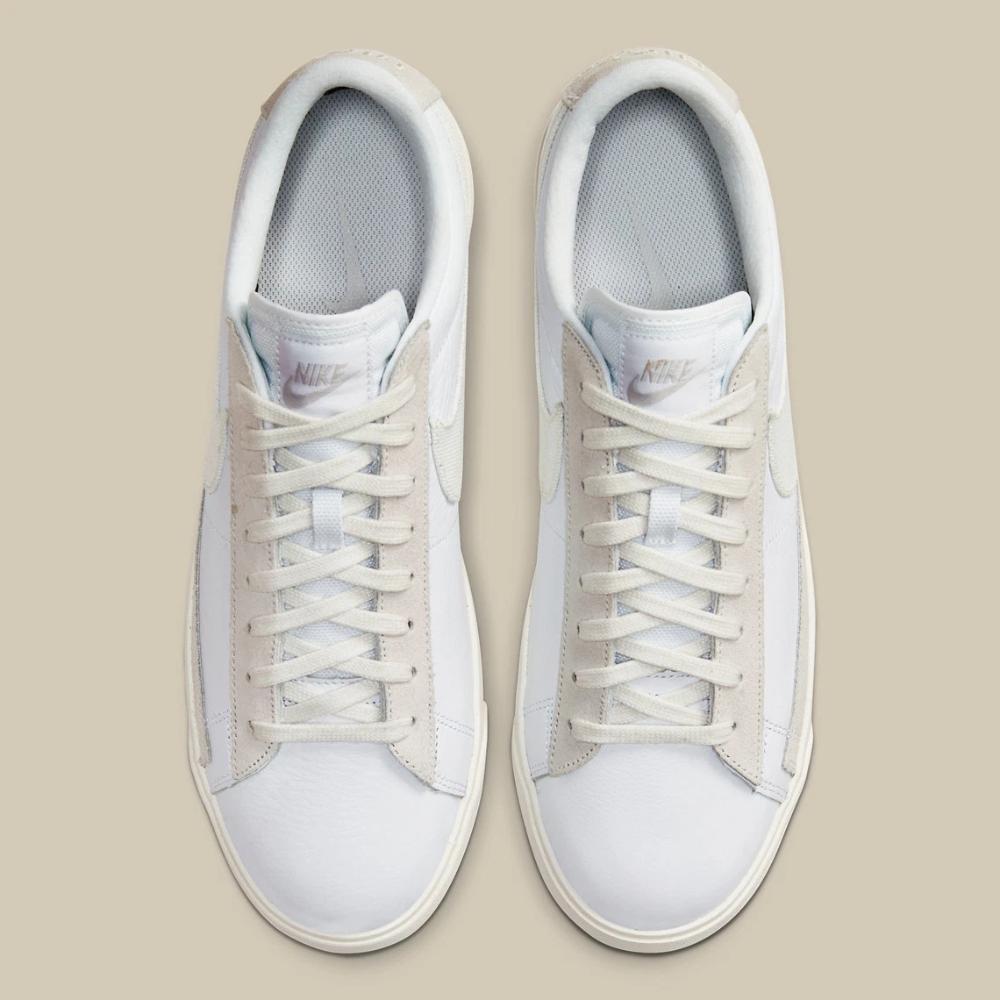 Nike Blazer Low Leather White Sail CW7585-100   SneakerNews.com ...