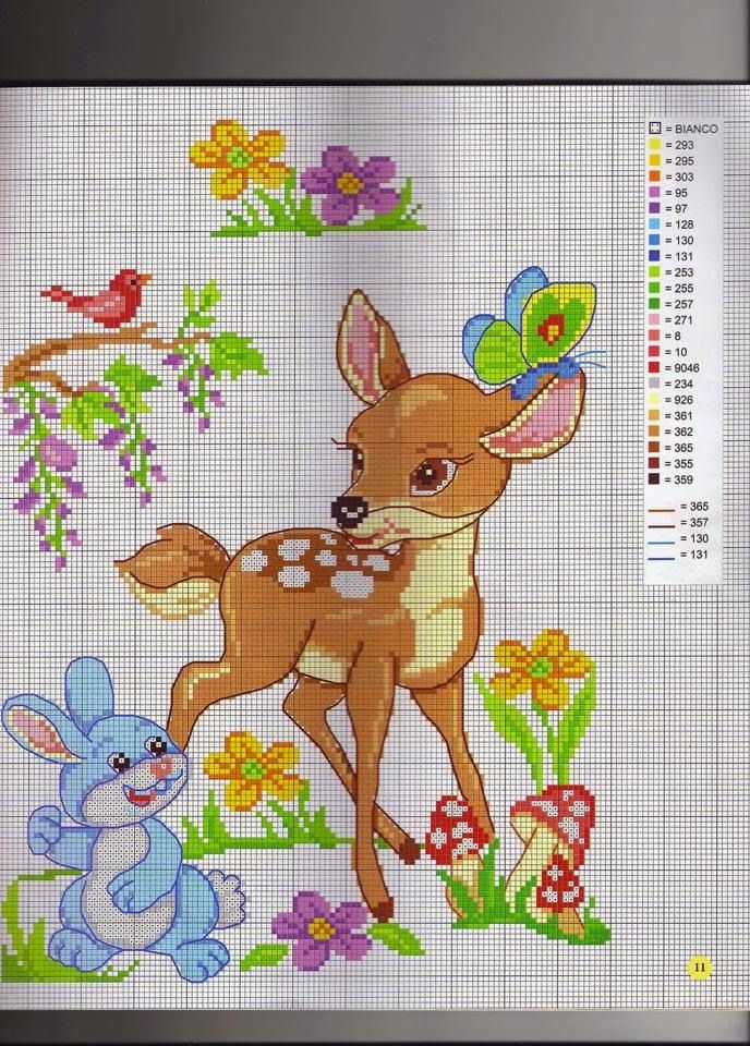 punto croce bambi  42ea2d424f0a