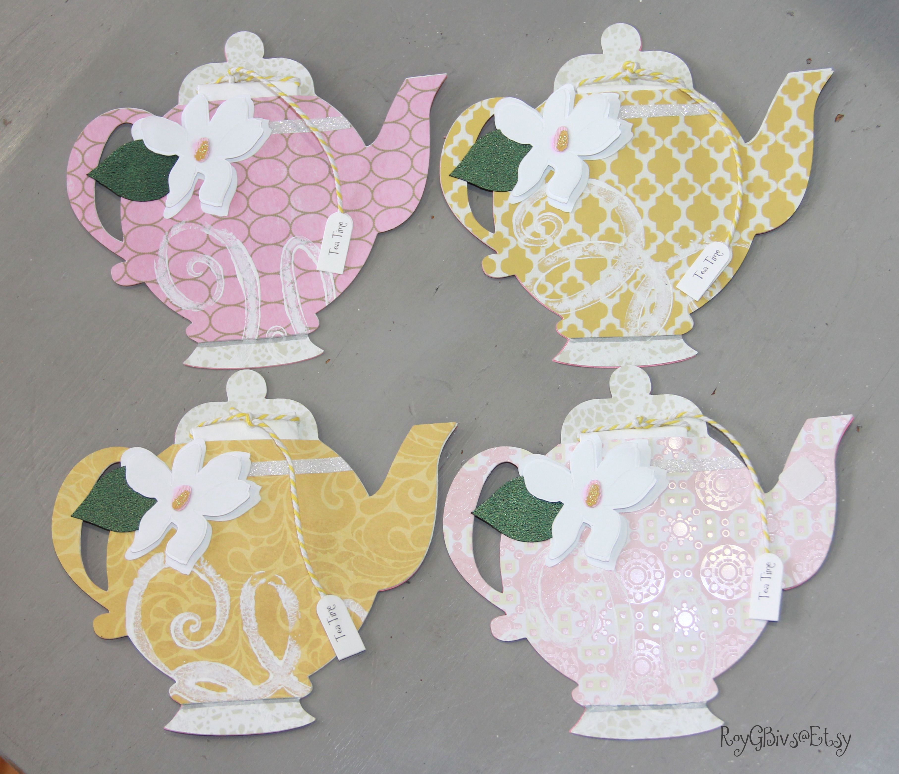 Teapot Invitations Tea Party Tea Time Birthday Magnolia Flower