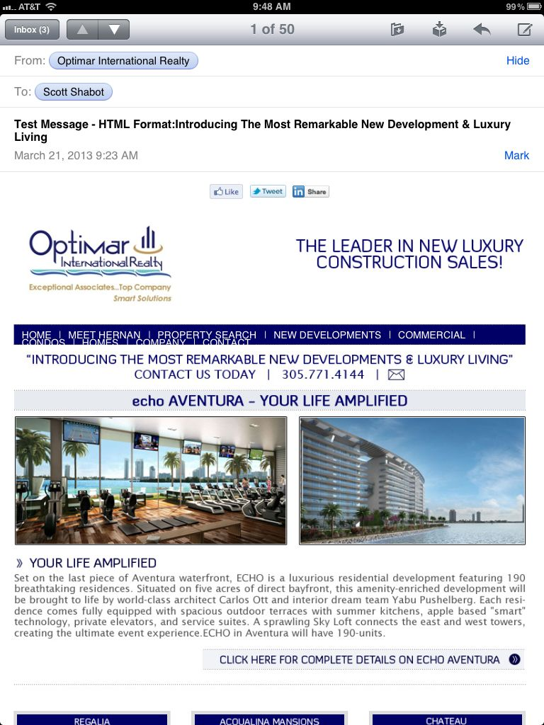 Landing Page For Beachwalk New Condo Project Aventura Fl From Www Sasdigital Net New Condo Property Search Beach Walk