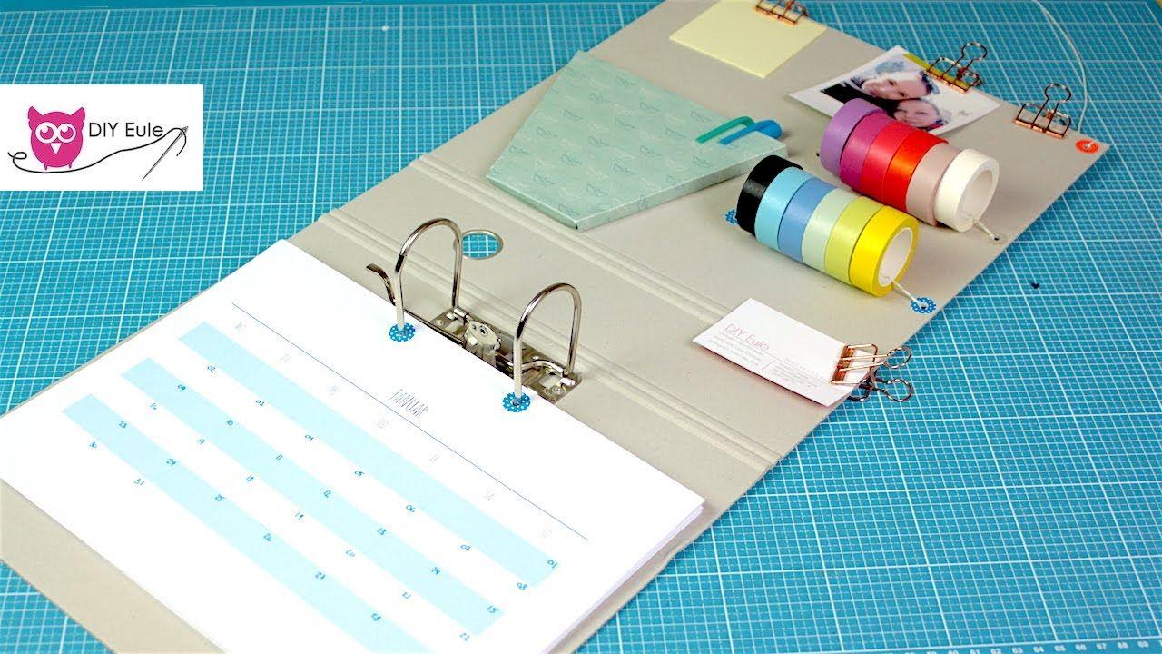 kalender aus ordner selber basteln mit kostenloser druckvorlage schneiderei pinterest. Black Bedroom Furniture Sets. Home Design Ideas