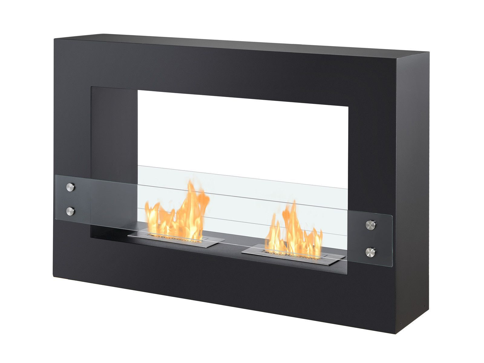 Ignis Tectum Black 47 Free Standing Ethanol Fireplace Indoor Outdoor Fsf 004 Ethanol Fireplace Freestanding Fireplace Bioethanol Fireplace