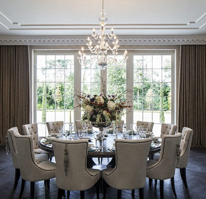 20 Elegant Dining Room Ideas With French Style Round Dining