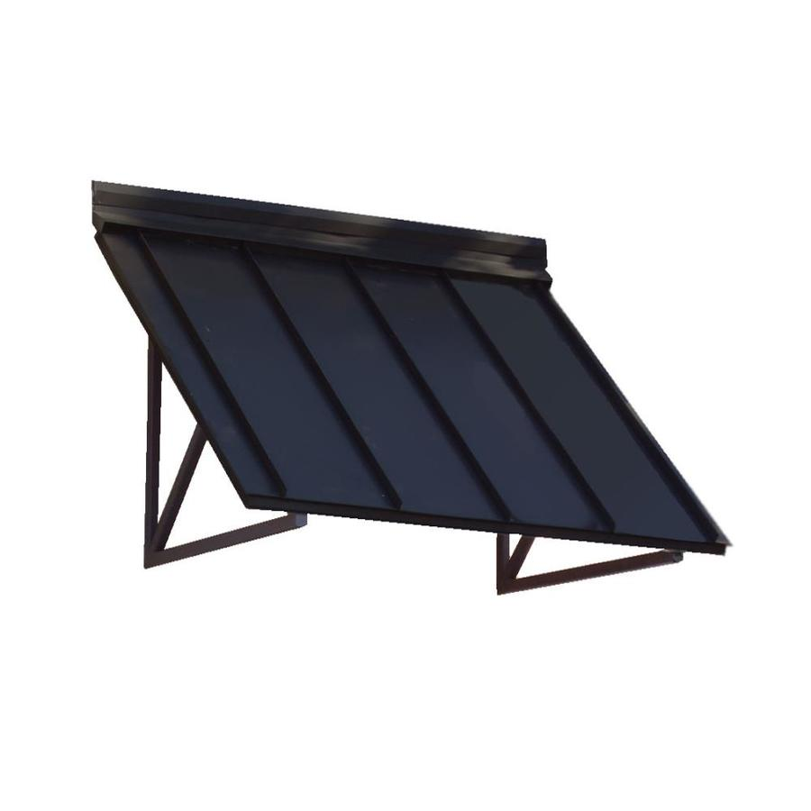 Awntech Houstonian 44 In Wide X 24 In Projection Solid Vertical Patio Fixed Awning At Lowes Com Metal Awning Awning Over Door Standing Seam