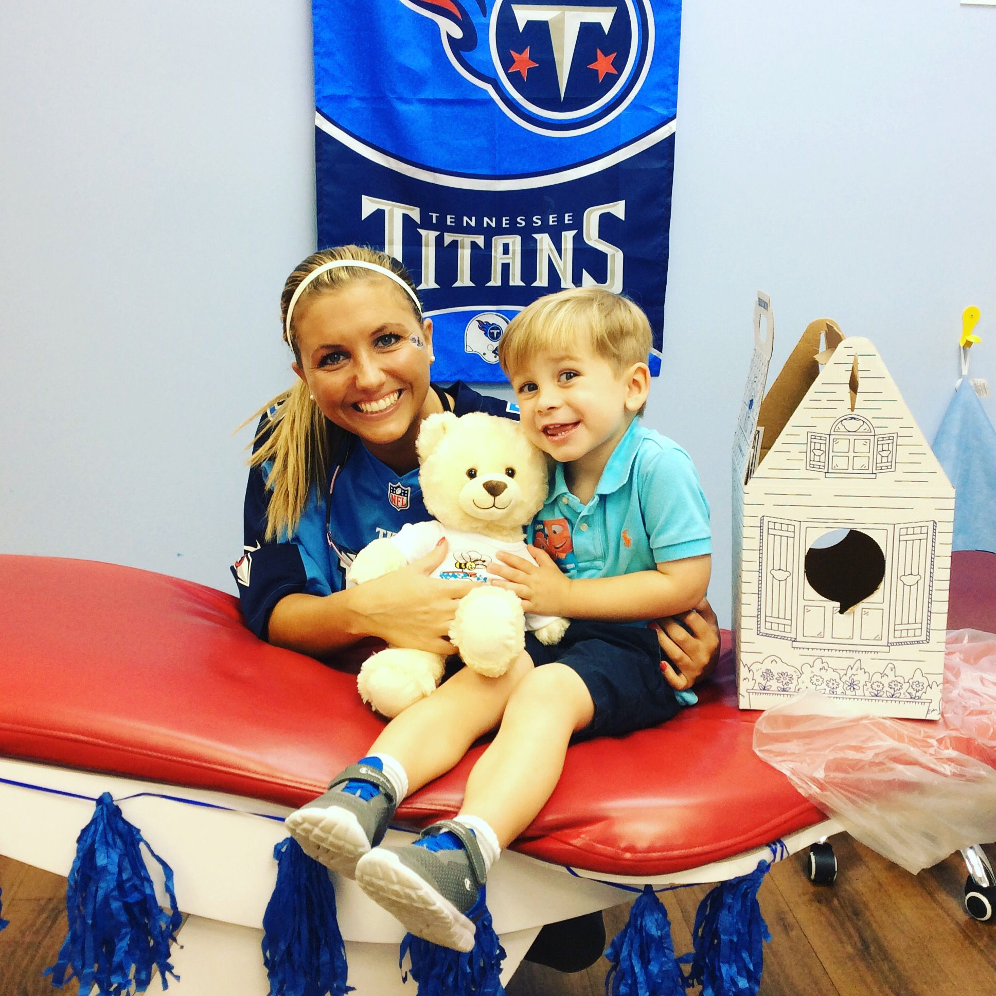 Great job today bud! He is the cutest Titans fan EVER!!