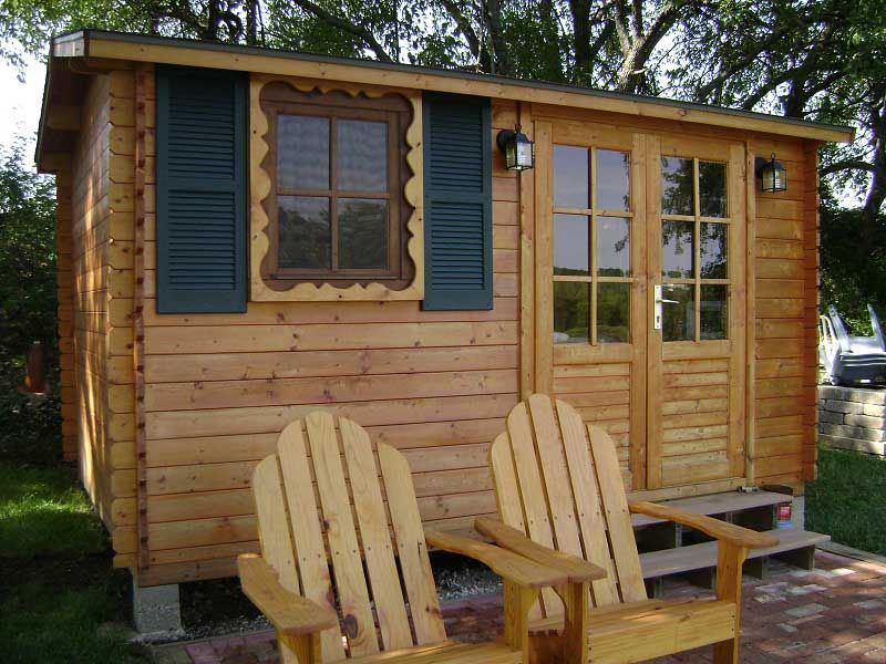 Solid build designs and sells outdoor wood kit sheds and for Small shed kits