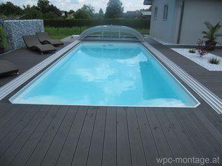 poolumrandung wpc terrassendielen pool berdachung wallnerpool newline pools pinterest. Black Bedroom Furniture Sets. Home Design Ideas