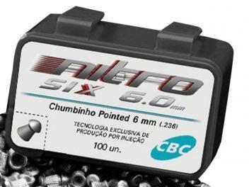 Chumbinho CBC 6.0mm 100 Unidades - Nitro-Six
