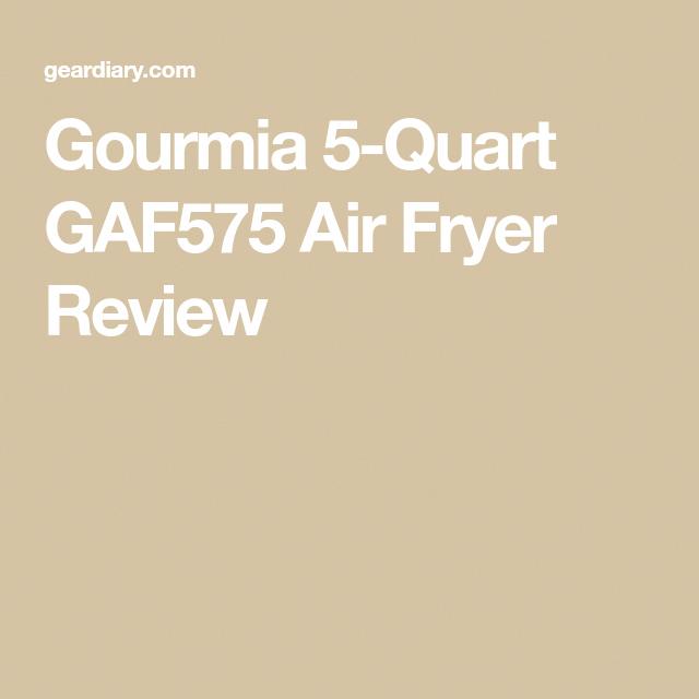 Gourmia 5Quart GAF575 Air Fryer Review Air fryer review