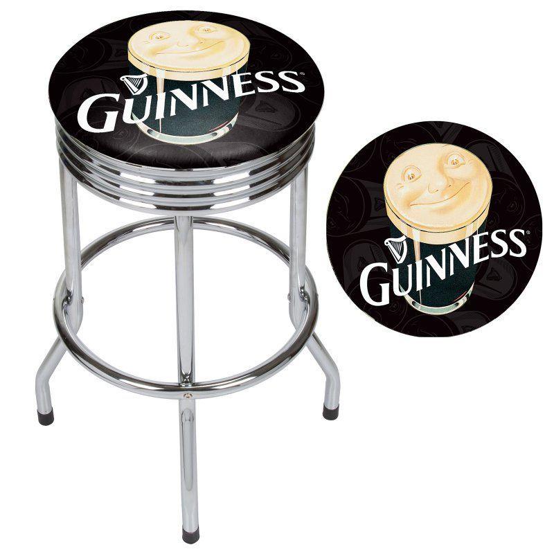 Guinness Chrome Ribbed Bar Stool Gn1005 Pnt