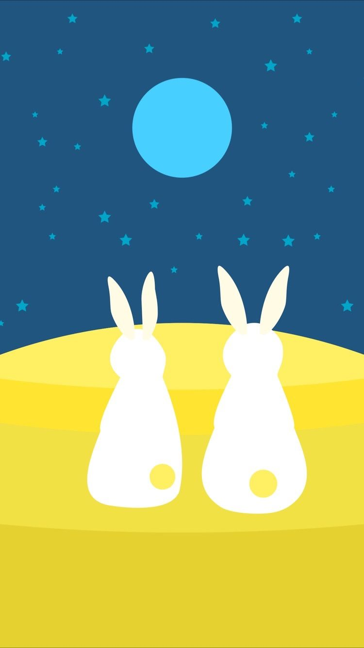 tap and get free app cute bunnies and moon wallpaper for iphone