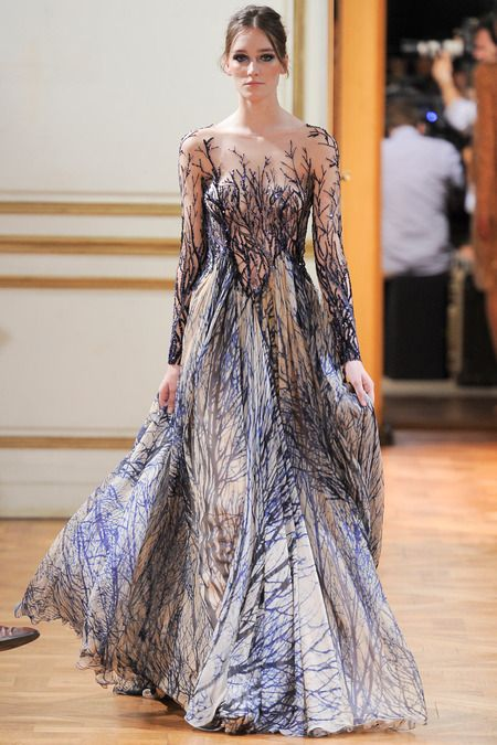 wintery trees - zuhair murad FW13/14  #fashion #design