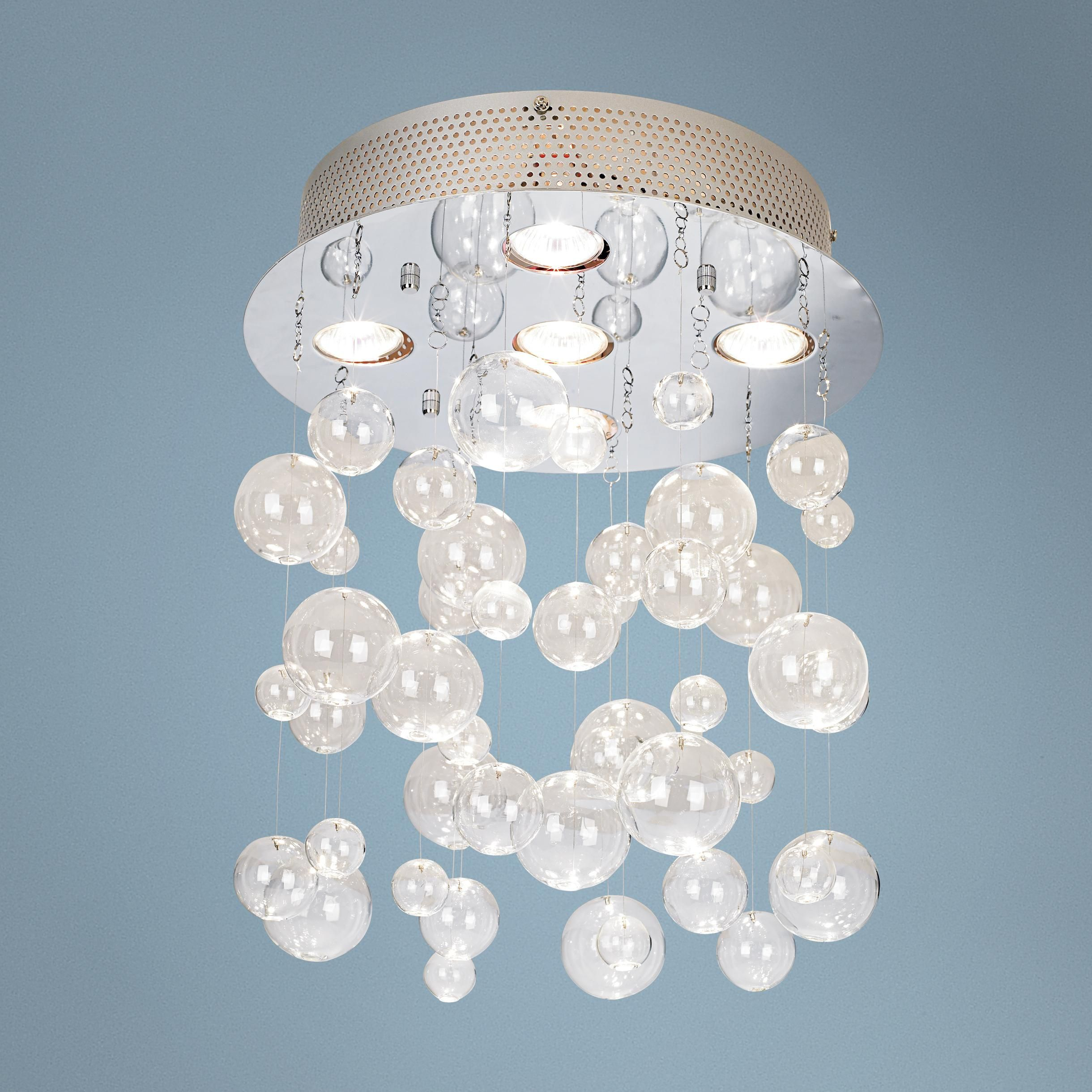 Possini euro bubbles 13 34 wide ceiling light fixture lampsplus possini euro bubbles 13 wide ceiling light fixture bubble light for the bath arubaitofo Image collections