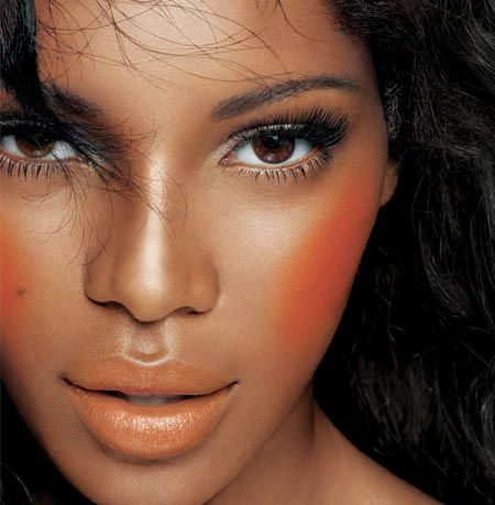 Makeup for Dark Skin Black Women   dark skin s orange blush on the ...