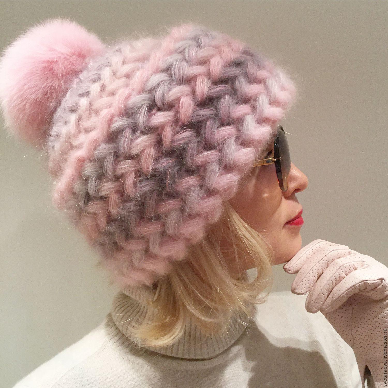 Вязаные женские шапки 2018 осень, зима, вена с описанием ...