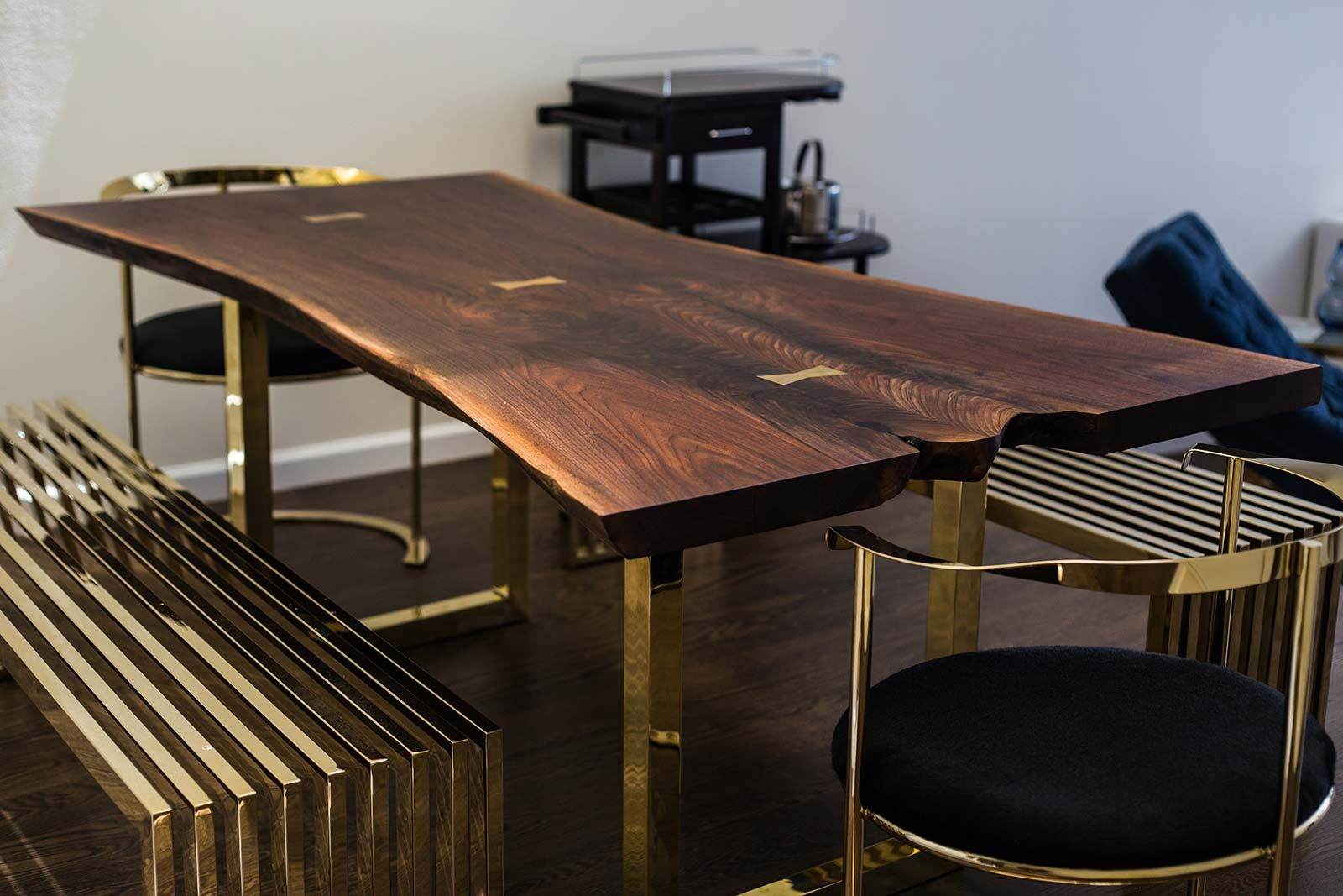 Live Edge Wood Slab Tables And Furniture  Reco Bklyn  For Fair Walnut Dining Room Sets Decorating Inspiration