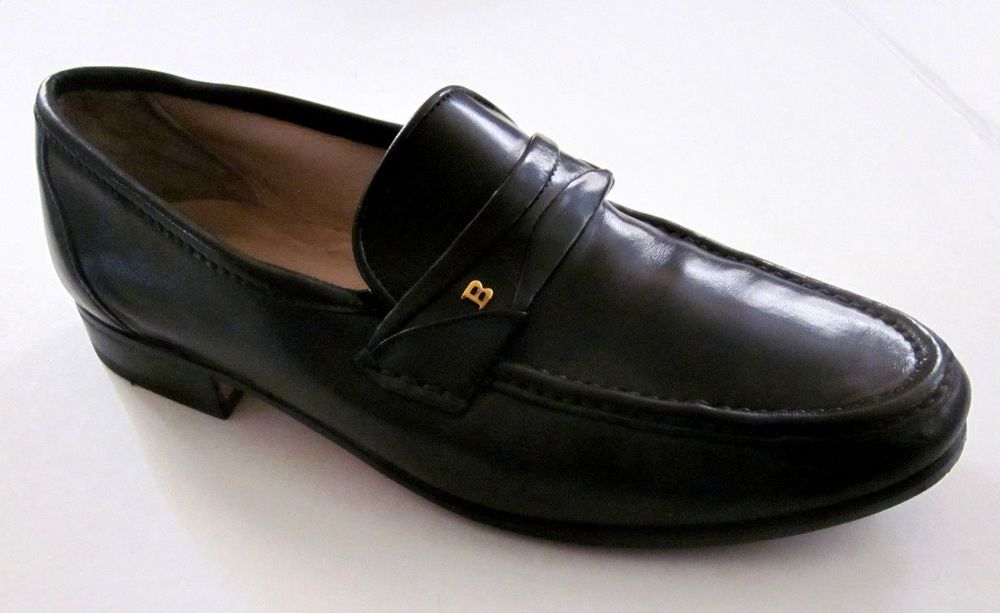 2207225bda0 BALLY Women s Black Classic Gold Logo Hardware Loafers Shoes 6.5 M Made in  ITALY  Bally  Loafers  Casual