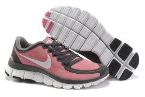 online retailer 1e71a 2cdc4 Tklw Nike Free 5.0 Femme Suède Grise Rosa Chaussures