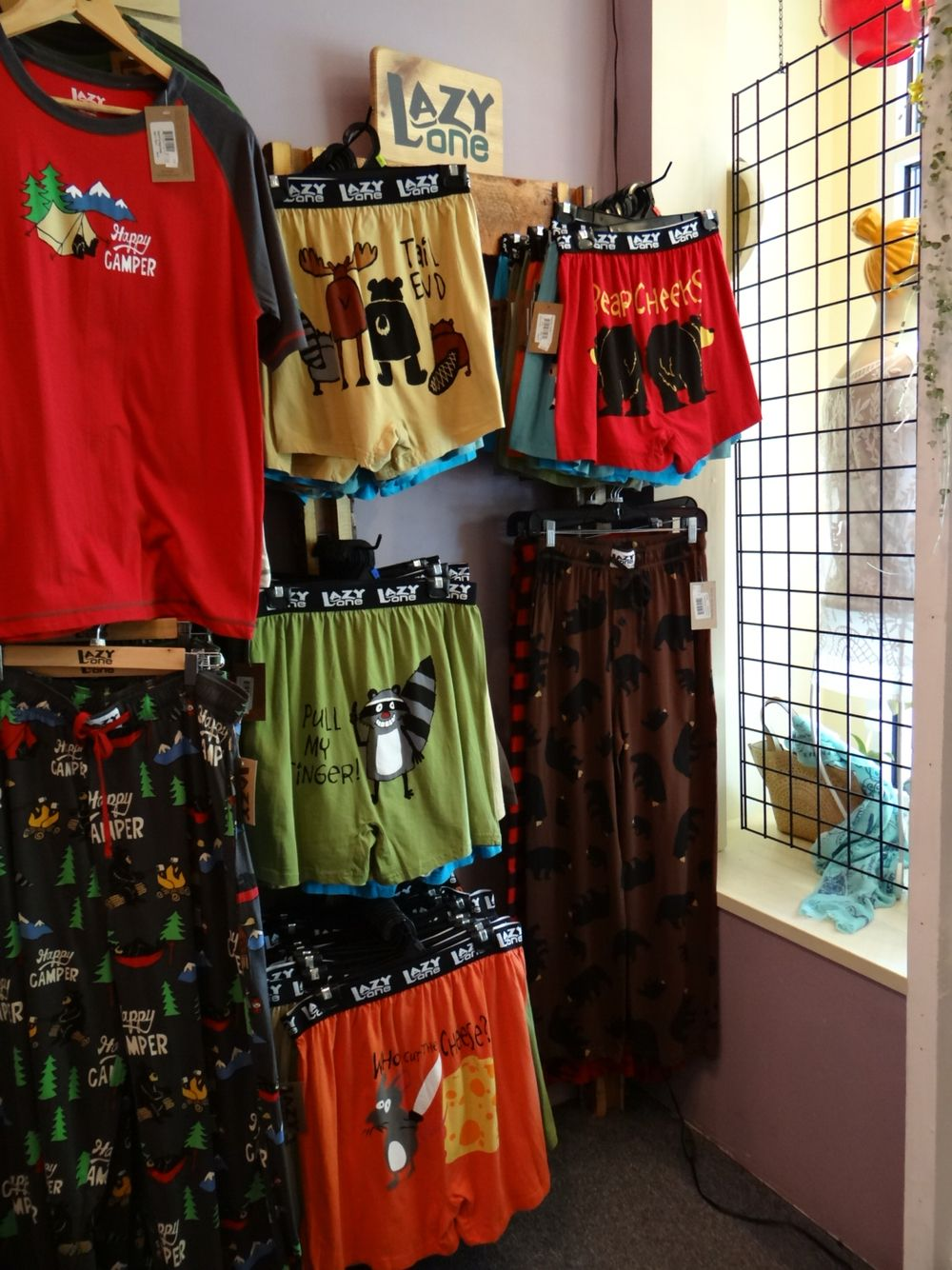 Lazy One boxers at Bath, Body and Soul Essentials in Fish Creek, Door County, Wisconsin www.bathbodysoulessentials.com