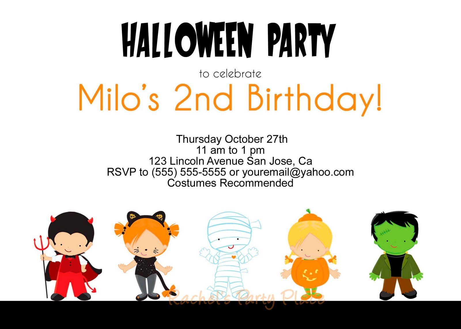 halloween birthday invitations http//www