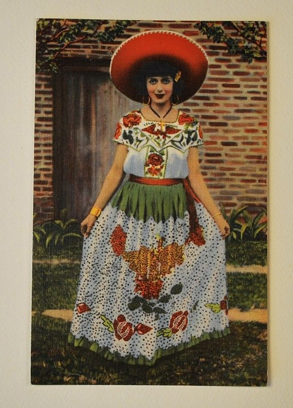Frieda S Friend Colorful Mexican Postcard Vintage By PaperSeeker