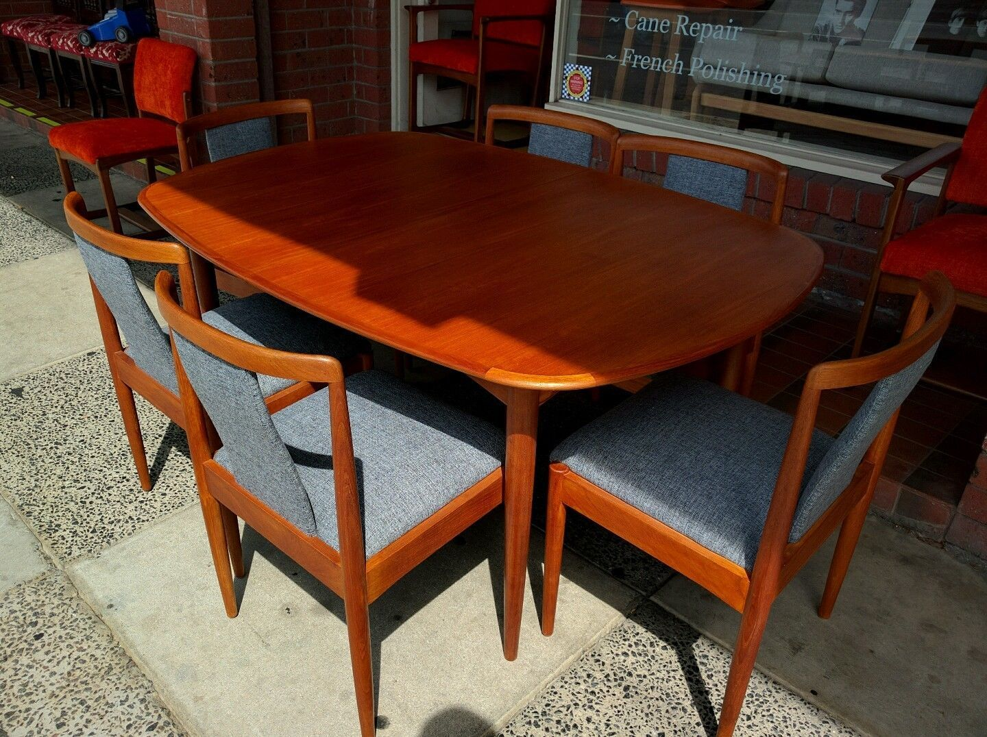Retro 1960u0027s Parker Dining Table + 6 Chairs Restorered And Recovered In  Home U0026 Garden,