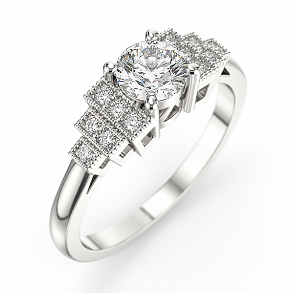 bague diamant annee 30