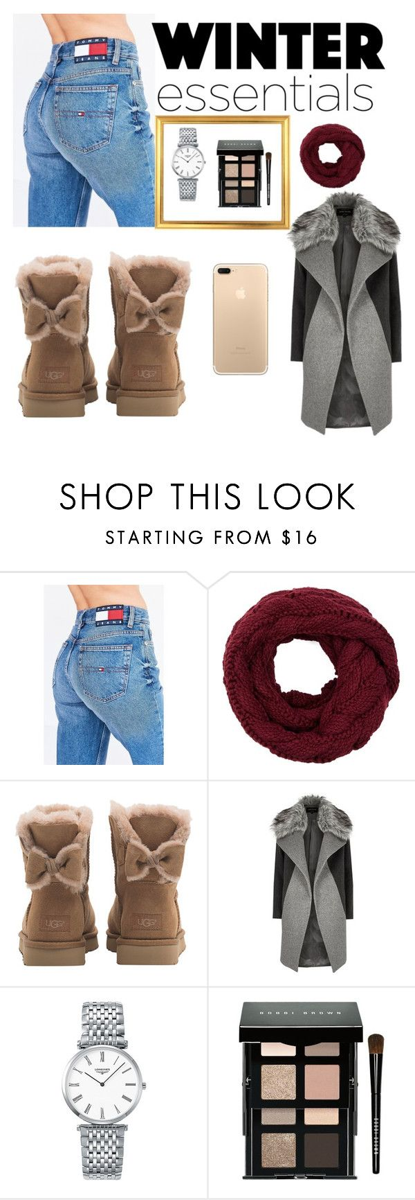 """Untitled #2"" by kaitlynroe ❤ liked on Polyvore featuring Tommy Hilfiger, UGG, River Island, Longines and Bobbi Brown Cosmetics"