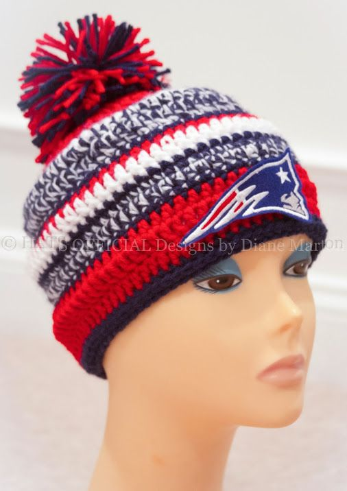 PDF crochet Hat pattern Red white and Blue  3649c8cc1