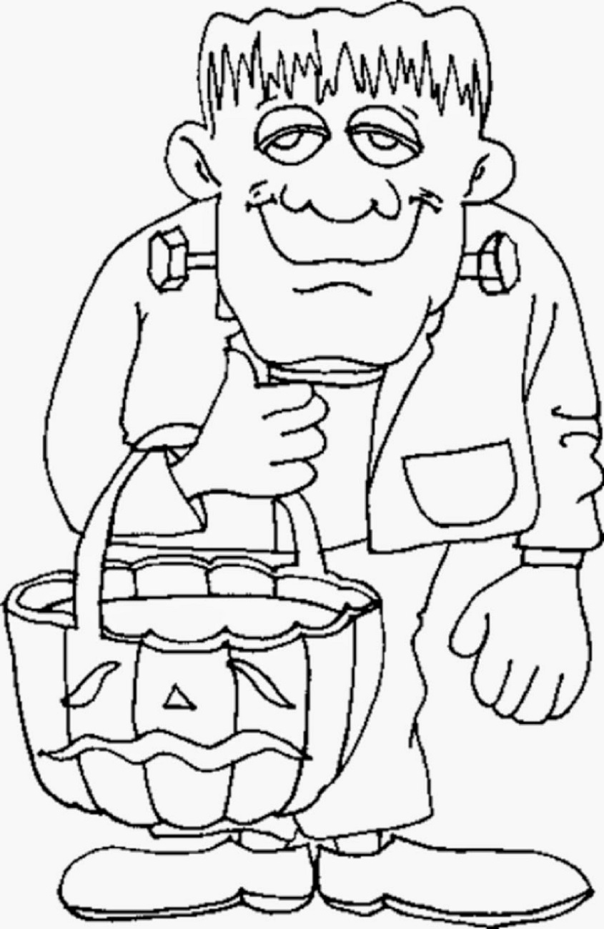 Halloween Coloring Pages for Children #halloweencoloringpages