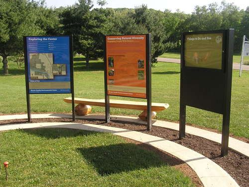 Outdoor durable, eco-friendly signs for parks, museums, zoos