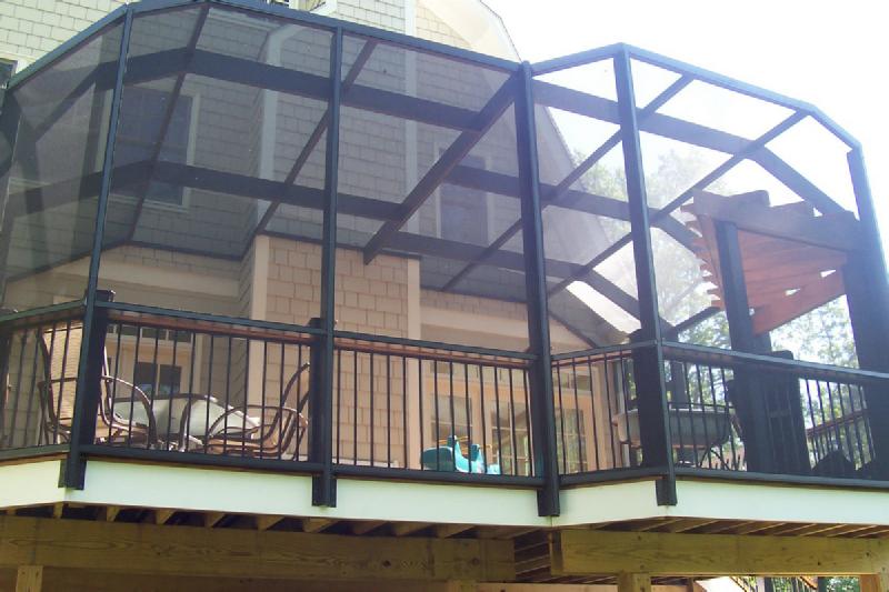 Screen Deck Or Porch Screened In Deck Outdoor Renovation Deck Enclosures