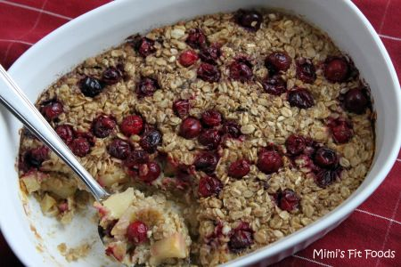 Baked Oatmeal Apples Cranberries
